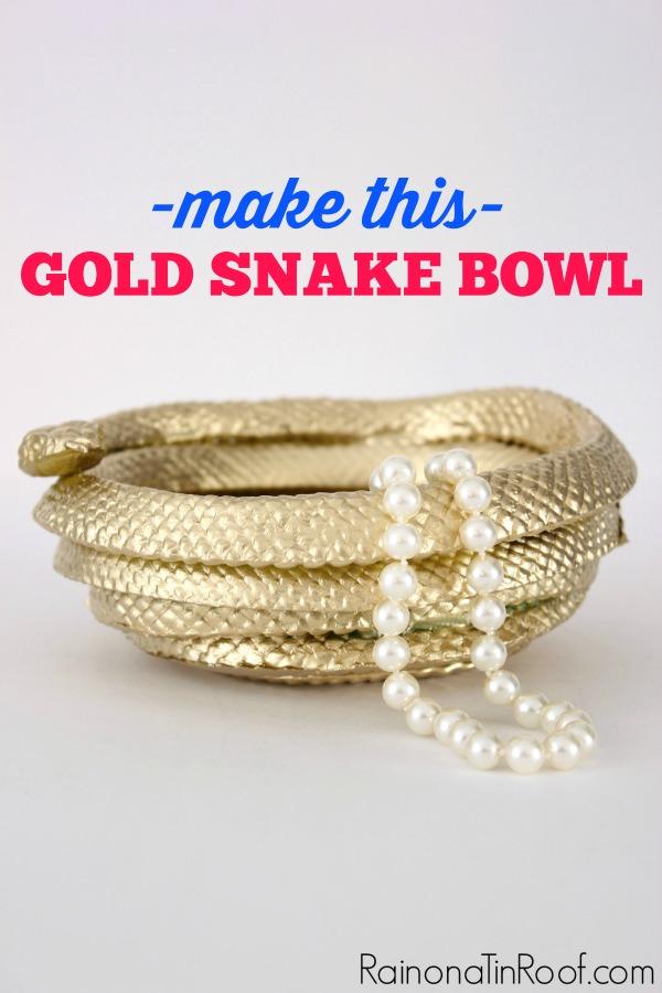 DIY Golden Snake Bowl