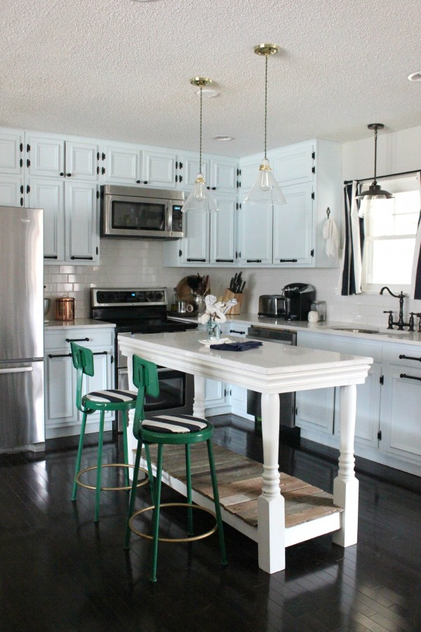 Before & After Kitchen via RainonaTinRoof.com