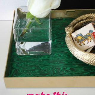 DIY Faux Malachite Tray (For Less than $10)