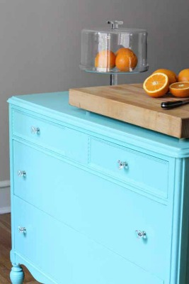 AWESOME IDEAS - dressers turned island, build your own island, and more! 7 Kitchen Island Ideas You Haven't Thought Of... via RainonaTinRoof.com