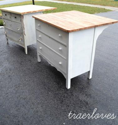 DIY Kitchen Island from Dressers
