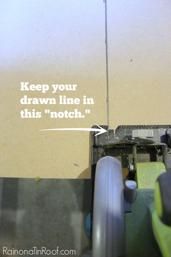 Measure and Marking Your Lines When Using a Circular Saw - Rain on a Tin Roof
