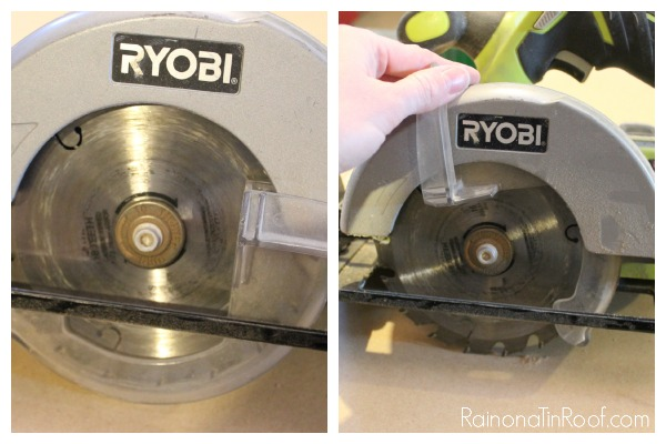 Circular Saw Blade Guard and How It Works - Rain on a Tin Roof