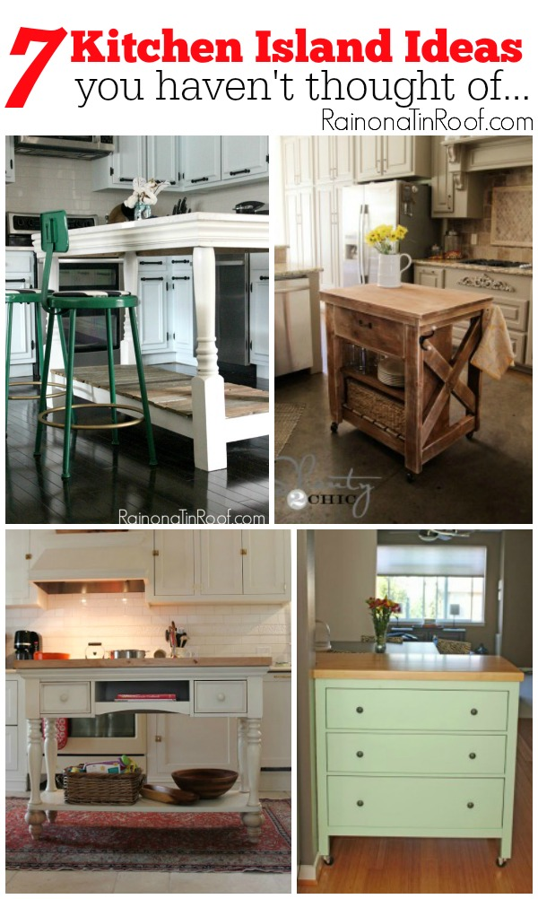 Unique Kitchen Island Ideas | DIY Kitchen Islands | How to Build a Kitchen Island | Kitchen Island DIY Ideas | Kitchen Storage Ideas