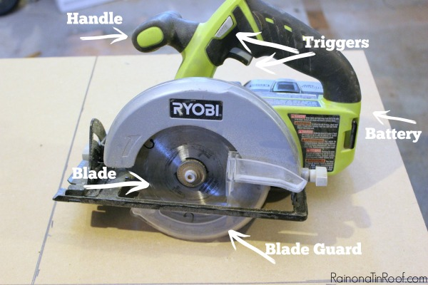 Using a Circular Saw - Parts of a Circular Saw - Rain on a Tin Roof
