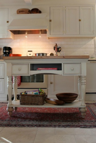 DIY Kitchen Island from a Sofa Table