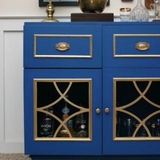 So cool! Awesome way to upcycle outdated pieces and that color! Gorgeous! Vintage Radio turned Bar Cabinet via RainonaTinRoof.com