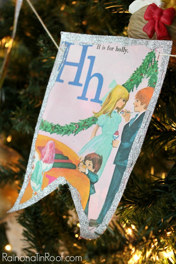 So sweet and simple to make! Vintage Storybook Garland via RainonaTinRoof.com