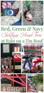 Red, Green & Navy Christmas Home Tour via RainonaTinRoof.com
