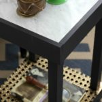 Chic and small, but functional! DIY Marble Top Table via RainonaTinRoof.com