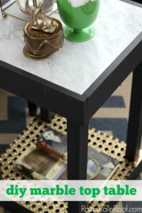 DIY Marble Top Table for $30 or less