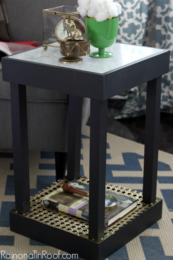 DIY Marble Top Table Via RainonaTinRoof.com