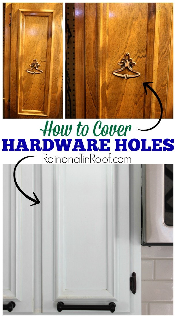 How To Cover Old Hardware Holes In Wood