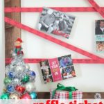 Raffle Tickets!! Fun twist on your normal Christmas decor! Raffle Ticket Christmas Card Holder via RainonaTinRoof.com