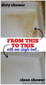 GROSS, but very interesting! Clean that Disgustingly Gross Shower with One Single Tool via RainonaTinRoof.com