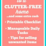 A real life guide to banishing clutter in your house! 15 Days to a Clutter-Free Home and some extra cash...