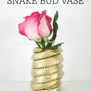 DIY Snake Bud Vase (Snake Haters, Avert Your Eyes)