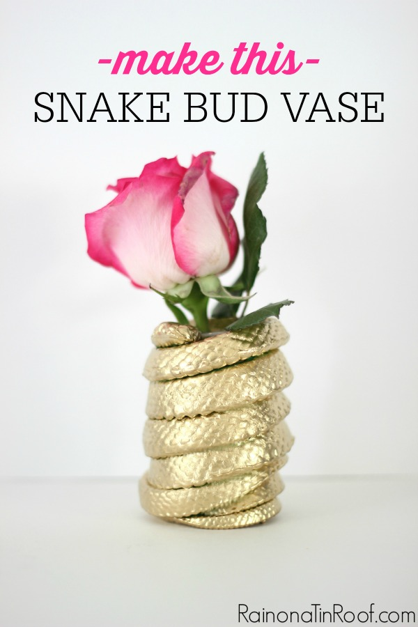 Made from a $1 rubber snake! DIY Snake Bud Vase
