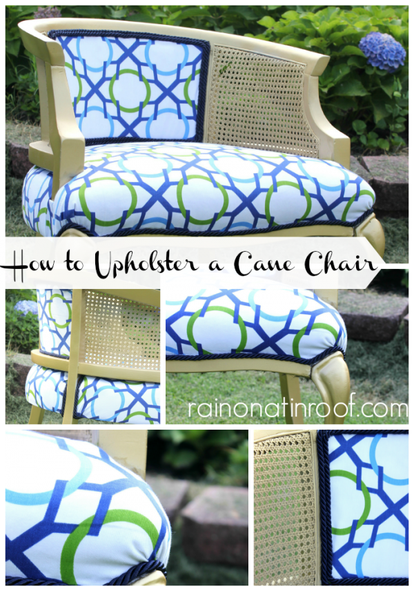 How to Upholster a Cane Chair