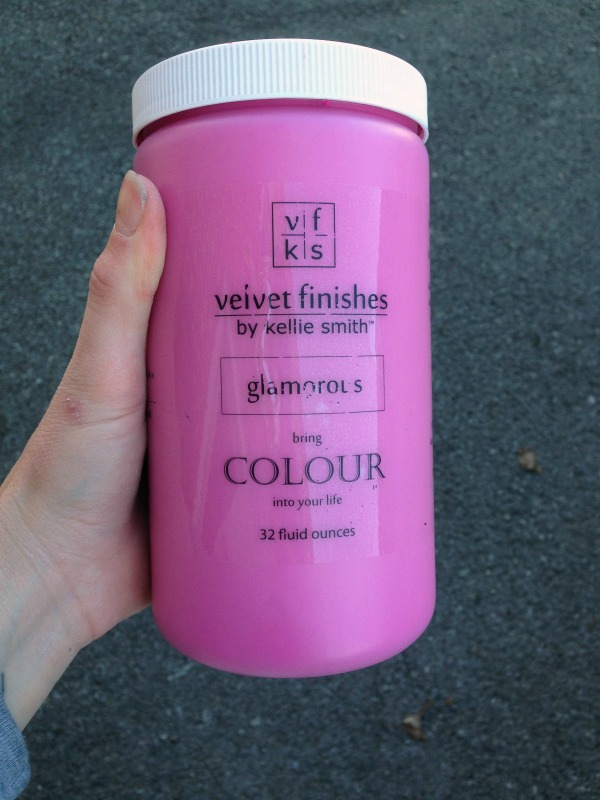 Velvet Finishes Glamorous Paint - No priming or topcoat needed with this paint!