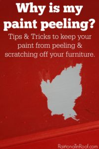 The basics and tips and tricks to keep your painted furniture from peeling and scratching. Why is my paint peeling?