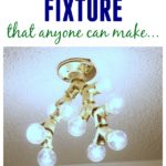 Yep, even I can make this one! $25 Easy DIY Light Fixture