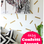 Super easy to make and fun! Easy Confetti Accent Wall