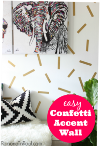 Super easy to make and fun! Easy Confetti Accent Wall
