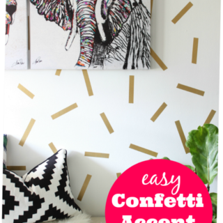 Easy Confetti Accent Wall
