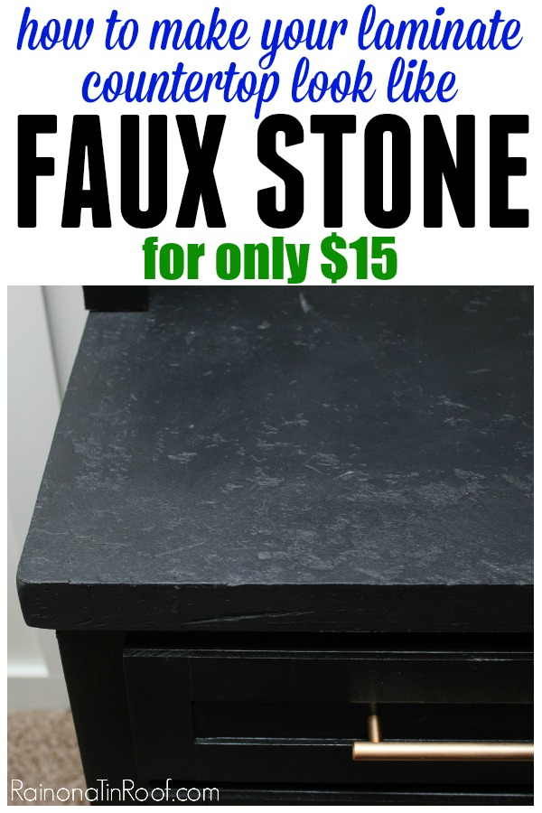 How To Make Laminate Countertops Look Like Faux Stone