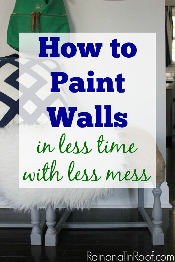 How to Paint Walls with Less Mess