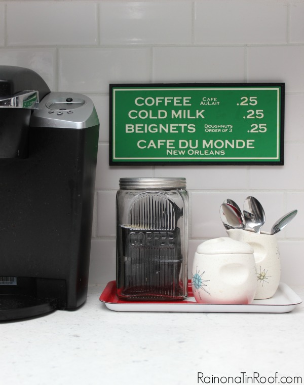 Create a coffee station. 10+ Kitchen Ideas: Decorating, Organizing, Storage