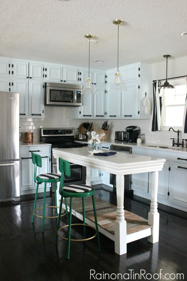 Bring color into a kitchen with barstools. 10+ Kitchen Ideas: Decorating, Organizing, Storage
