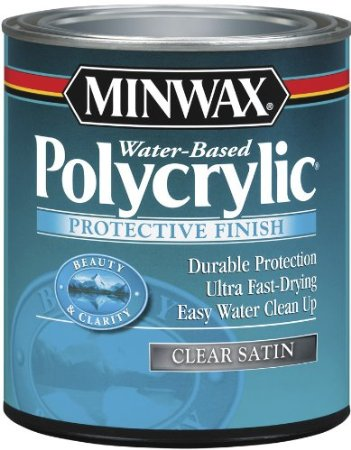 Polycrylic - gives a more protective finish than wax. Use on furniture. Painting 101: Topcoats and when to use them