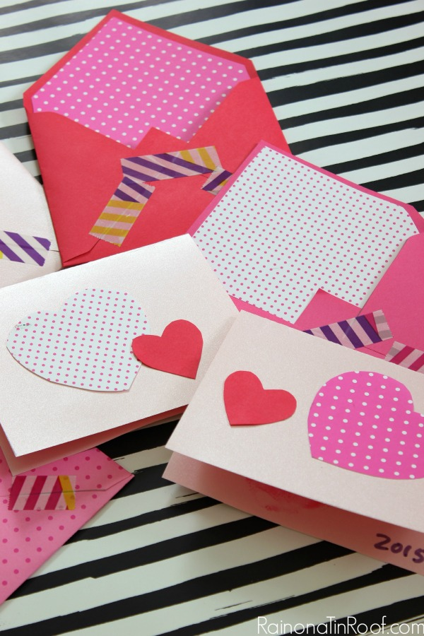 Valentine Cards and Decor in an hour – How to Make Your Own Valentines Card