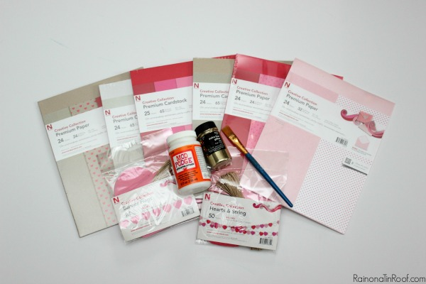 Everything you need is in the package! Valentine Cards & Decor in an hour