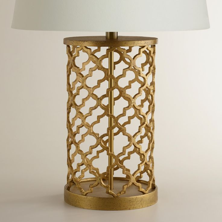 Best Lamps Under $50: Gold Moraccan