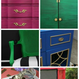 Go bold or go home with these colorful makeovers! 11 Colorful Furniture Makeovers