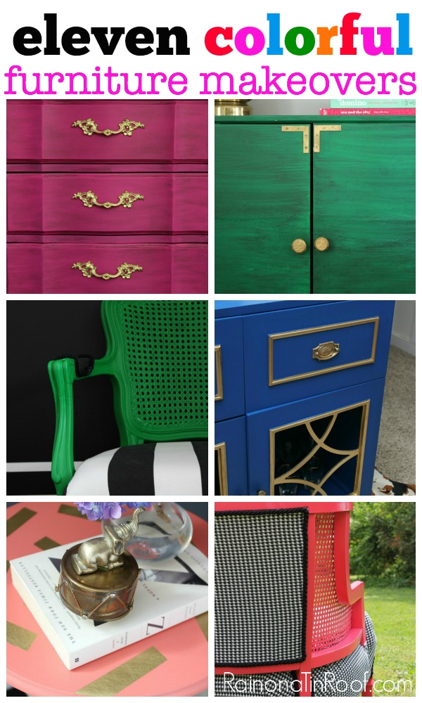 11 Colorful Furniture Makeovers