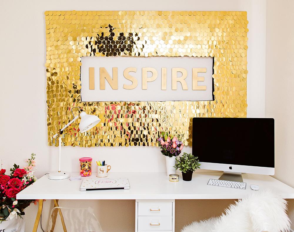 Classy Clutter Sequins Wall Art