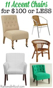 Great chairs at awesome prices - something here for work for any style! 11 Accent Chairs for $100 or LESS