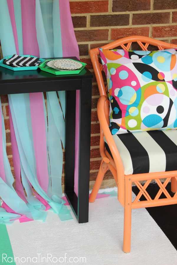 Black, White, and Orange Chair Makeover: 11 Colorful Furniture Makeovers