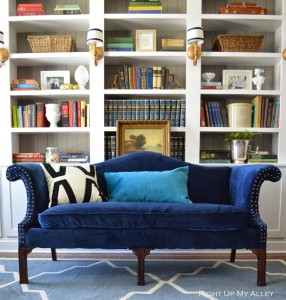 Right Up My Alley: Reupholstered Sofa