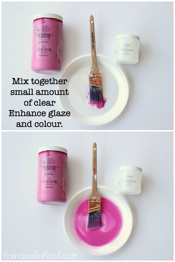 Water Based Colored Wood Stains created with Velvet Finishes - creating a pink wood stain