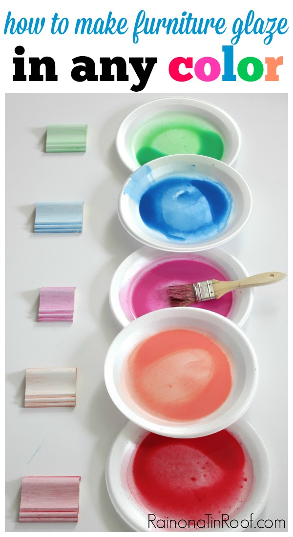 DIY Furniture Glaze Recipe in any color! Furniture Glaze Technique | Furniture Glaze Colors | Furniture Makeover Ideas