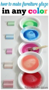 How to Make Colored Furniture Glaze: 11 Colorful Furniture Makeovers