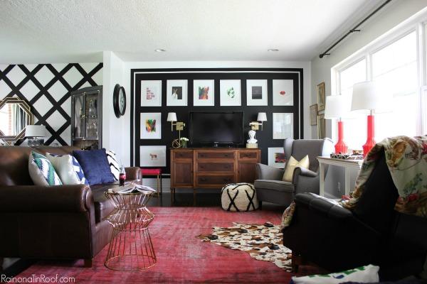 Vintage Modern Rustic Living Room: Spring Home Tour