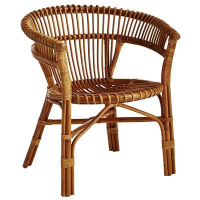 Wicker & Rattan Accent Chair for $100 or Less - can use outside too!