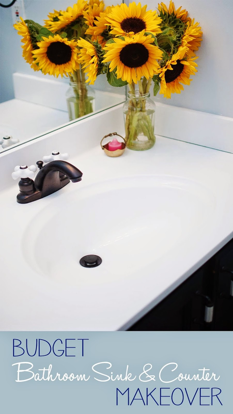 Painted Sink & Countertop Yes, please! Great DIY countertop makeovers that are doable and affordable!