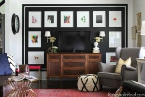 STUNNING Black and White Gallery Wall! Simple to do - such a great accent wall!